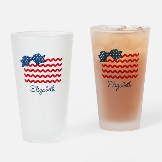 Girly Rick Rack Flag Drinking Glass