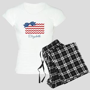 Girly Rick Rack Flag Women's Light Pajamas