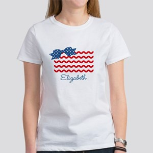 Girly Rick Rack Flag Women's T-Shirt