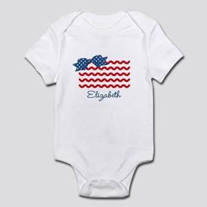 Girly Rick Rack Flag Infant Bodysuit