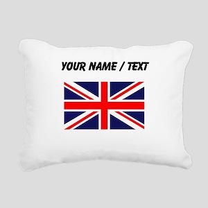 Custom Britain Flag Rectangular Canvas Pillow