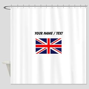 Custom Britain Flag Shower Curtain