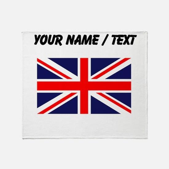Custom Britain Flag Throw Blanket