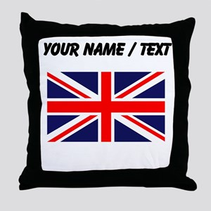 Custom Britain Flag Throw Pillow