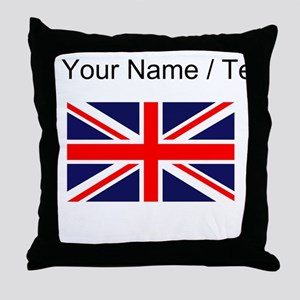 Custom Britain Flag Throw Pillow