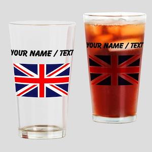 Custom Britain Flag Drinking Glass