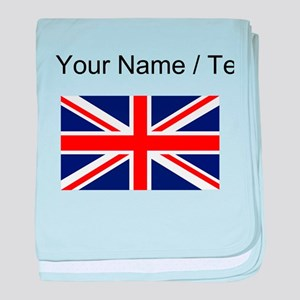 Custom Britain Flag baby blanket