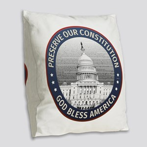 Preserve Our Constitution Burlap Throw Pillow