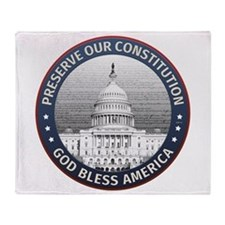 Preserve Our Constitution Throw Blanket