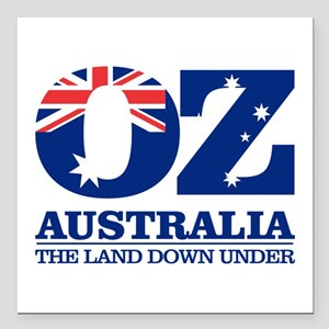"Australia (OZ) Square Car Magnet 3"" x 3"""