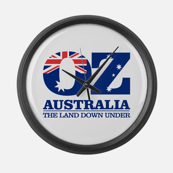 Australia (OZ) Large Wall Clock
