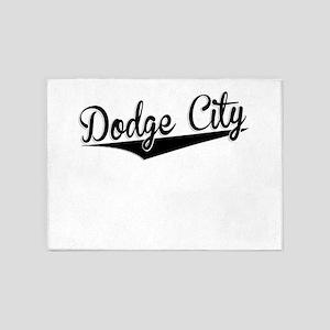 Dodge City, Retro, 5'x7'Area Rug