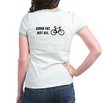 Burn fat not oil, on the back Women's Ringer