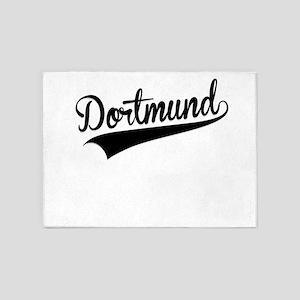 Dortmund, Retro, 5'x7'Area Rug