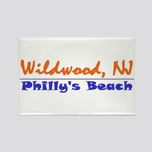 Wildwood Philly's Beach Rectangle Magnet