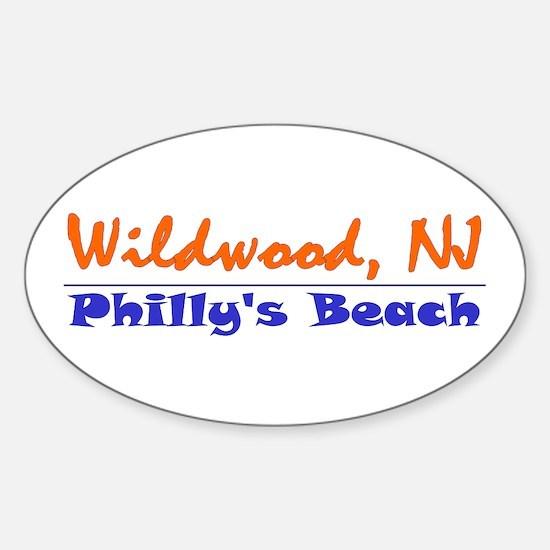 Wildwood Philly's Beach Oval Decal