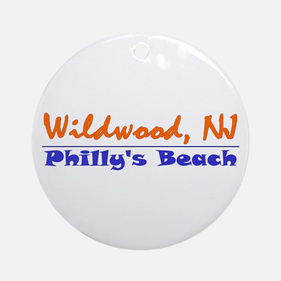 Wildwood Philly's Beach Ornament (Round)