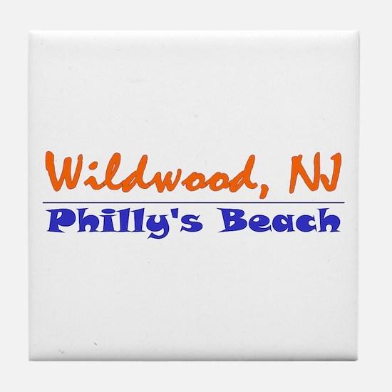 Wildwood Philly's Beach Tile Coaster