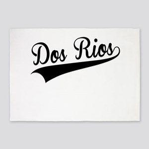 Dos Rios, Retro, 5'x7'Area Rug