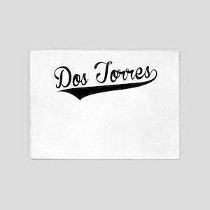 Dos Torres, Retro, 5'x7'Area Rug