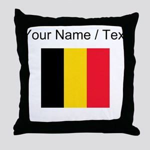 Custom Belgium Flag Throw Pillow