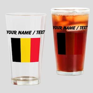 Custom Belgium Flag Drinking Glass