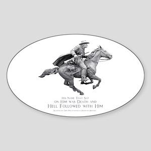 Hell Rider Oval Sticker