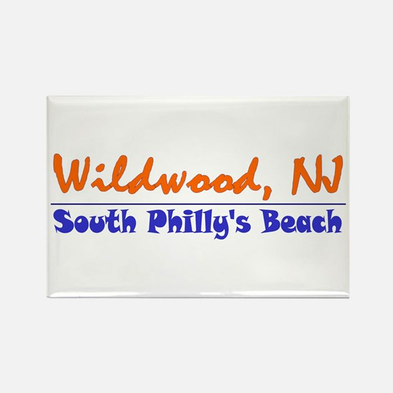 Wildwood South Philly Beach Rectangle Magnet