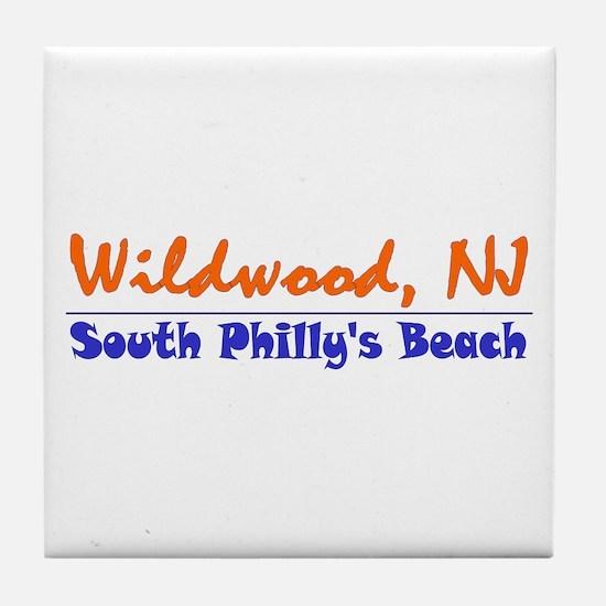 Wildwood South Philly Beach Tile Coaster