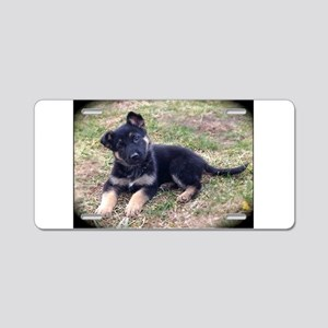 German Shepherd Pup Aluminum License Plate