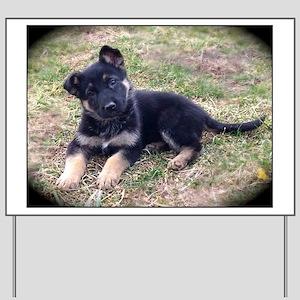 German Shepherd Pup Yard Sign