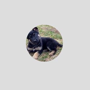 German Shepherd Pup Mini Button
