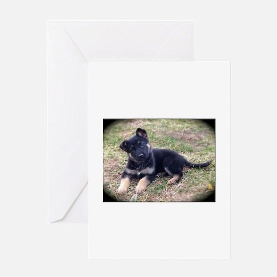 German Shepherd Pup Greeting Cards
