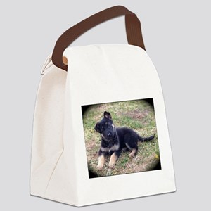German Shepherd Pup Canvas Lunch Bag