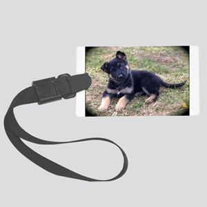 German Shepherd Pup Luggage Tag