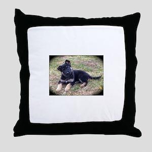 German Shepherd Pup Throw Pillow