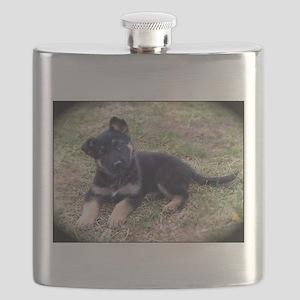German Shepherd Pup Flask