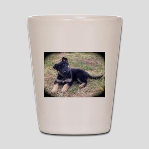 German Shepherd Pup Shot Glass