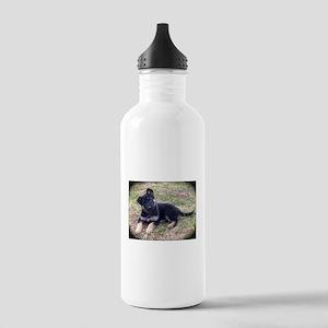 German Shepherd Pup Water Bottle