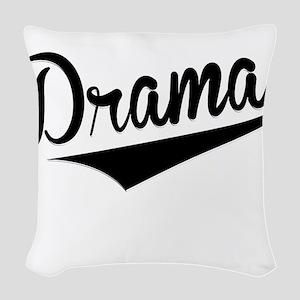 Drama, Retro, Woven Throw Pillow