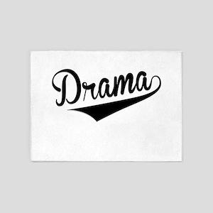 Drama, Retro, 5'x7'Area Rug