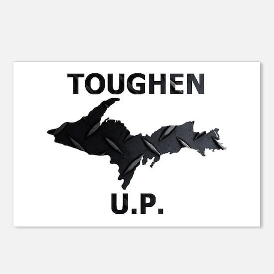 Toughen U.P. In Black Diamond Plate Postcards (Pac