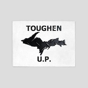 Toughen U.P. In Black Diamond Plate 5'x7'Area Rug