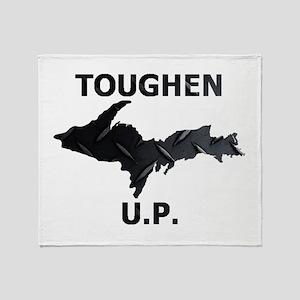 Toughen U.P. In Black Diamond Plate Throw Blanket