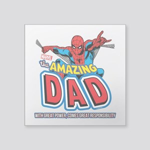 "The Amazing Dad Square Sticker 3"" x 3"""