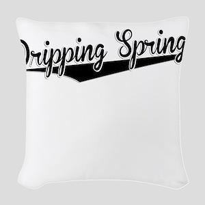 Dripping Springs, Retro, Woven Throw Pillow