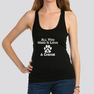 Love And A Chessie Racerback Tank Top