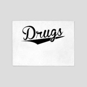 Drugs, Retro, 5'x7'Area Rug