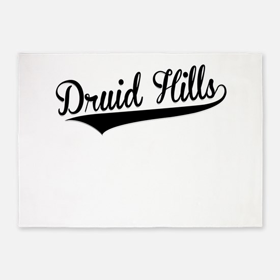 Druid Hills, Retro, 5'x7'Area Rug