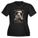 Wild Bill Hickok 01 Women's Plus Size V-Neck Dark